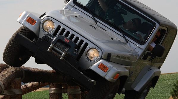 off road on jeep
